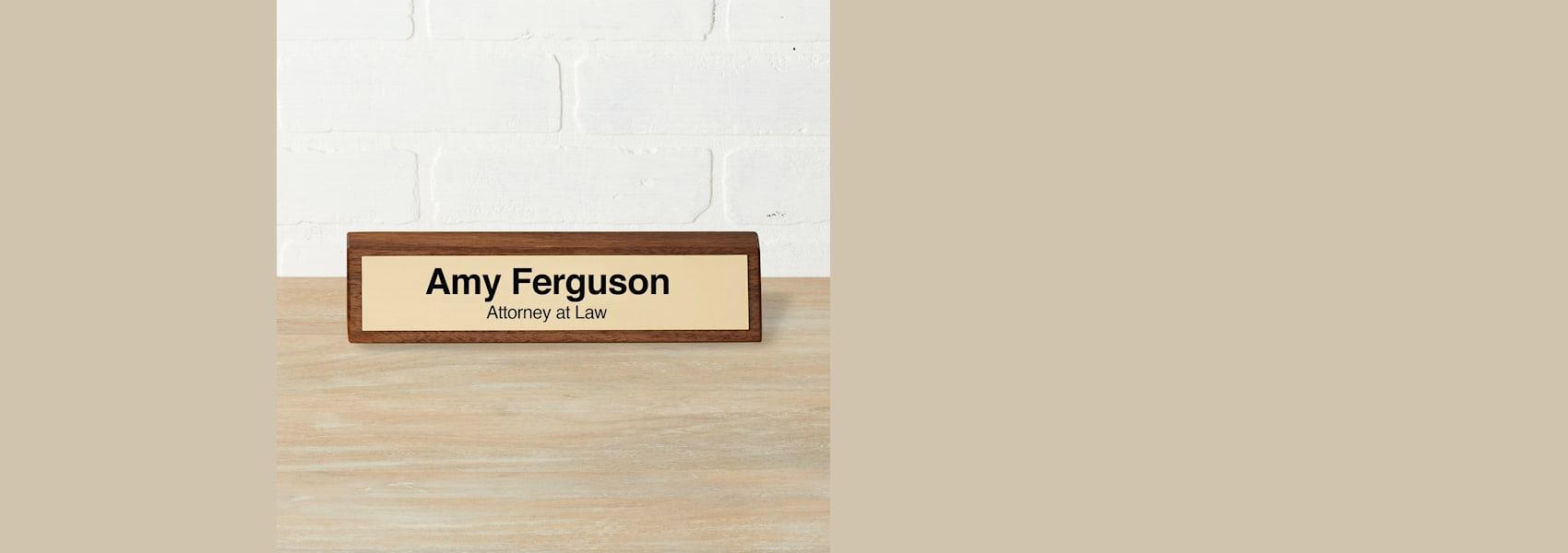 custom desk name plates
