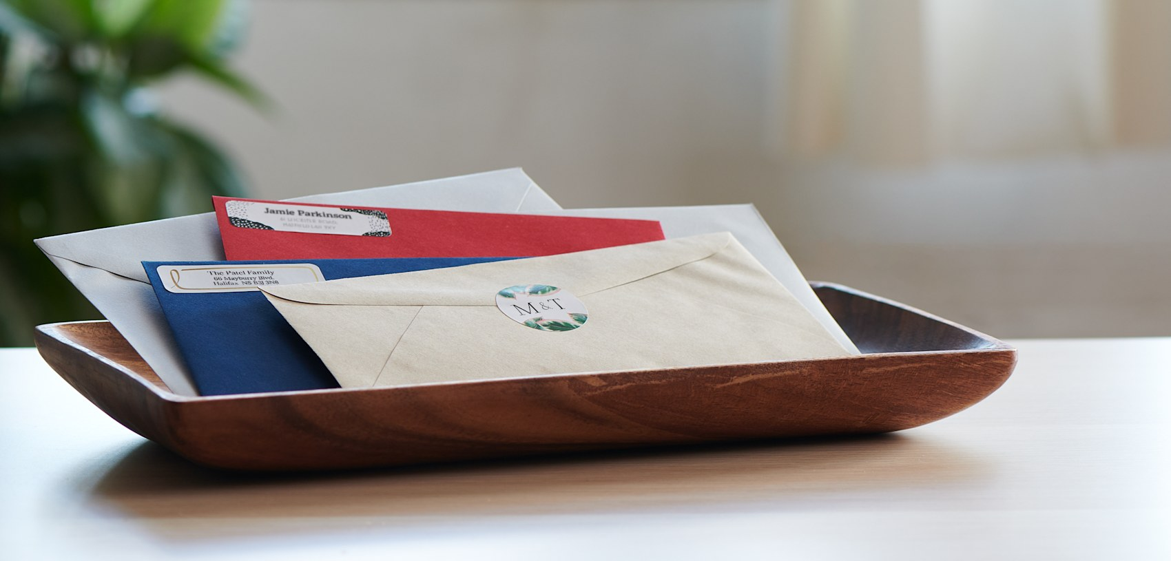 coloured envelops
