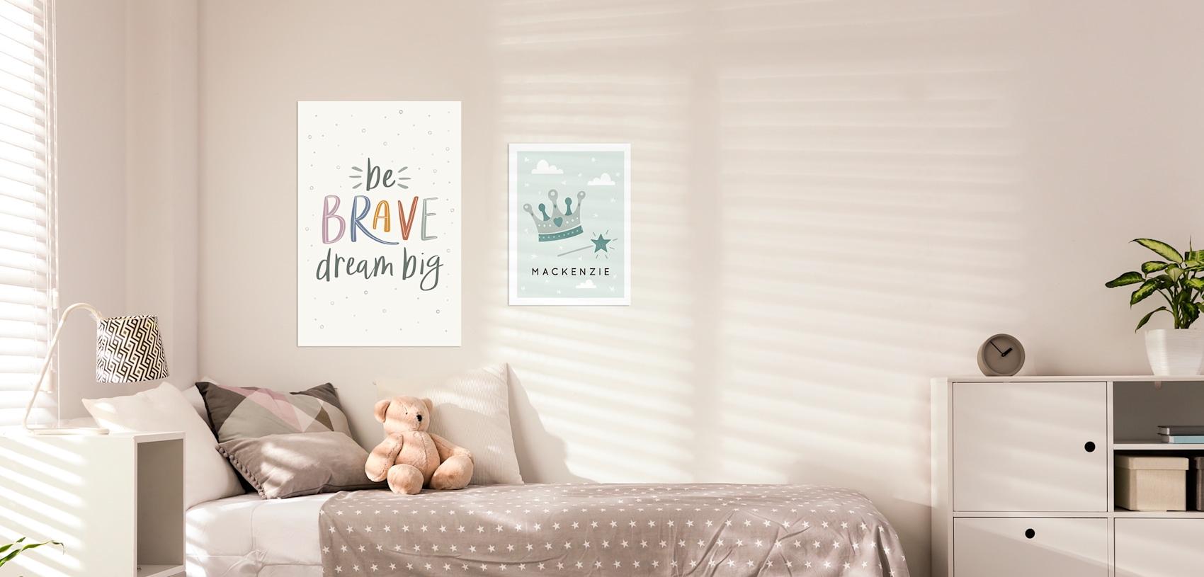 wall prints for kids bedroom
