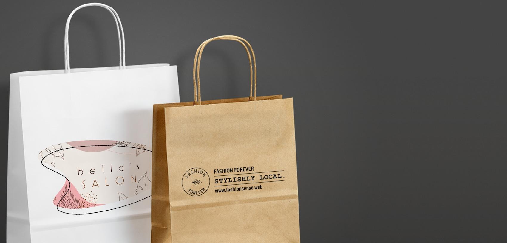 custom printed paper bags canada