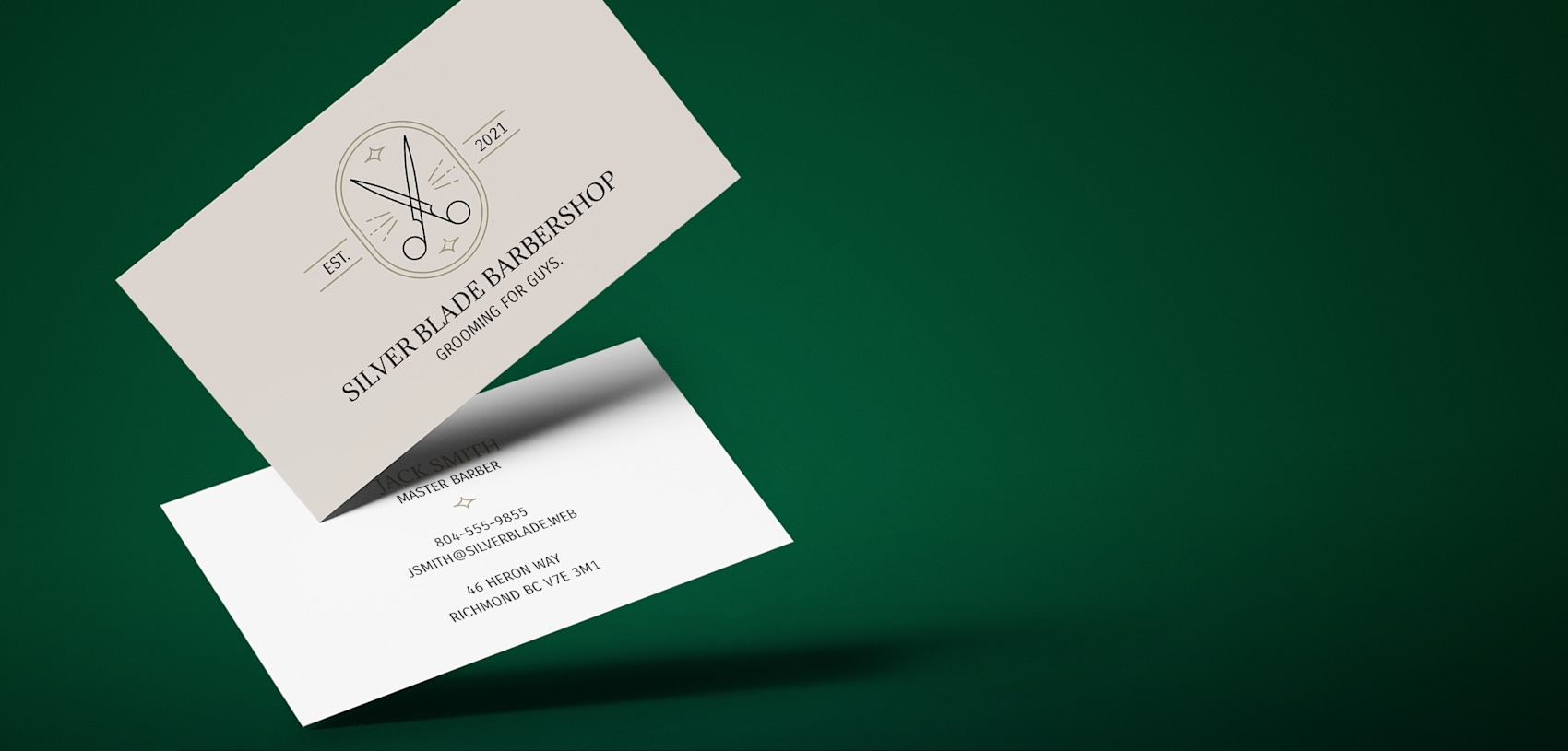 Standard business card printing online