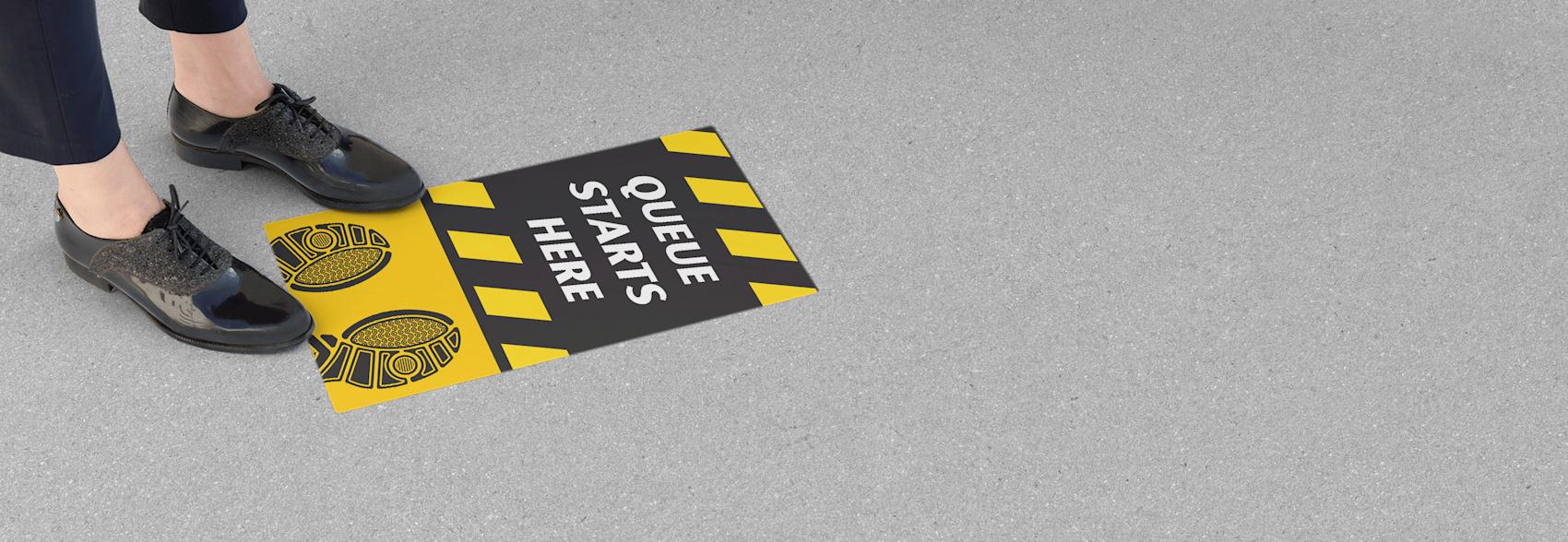 floor vinyl stickers for business