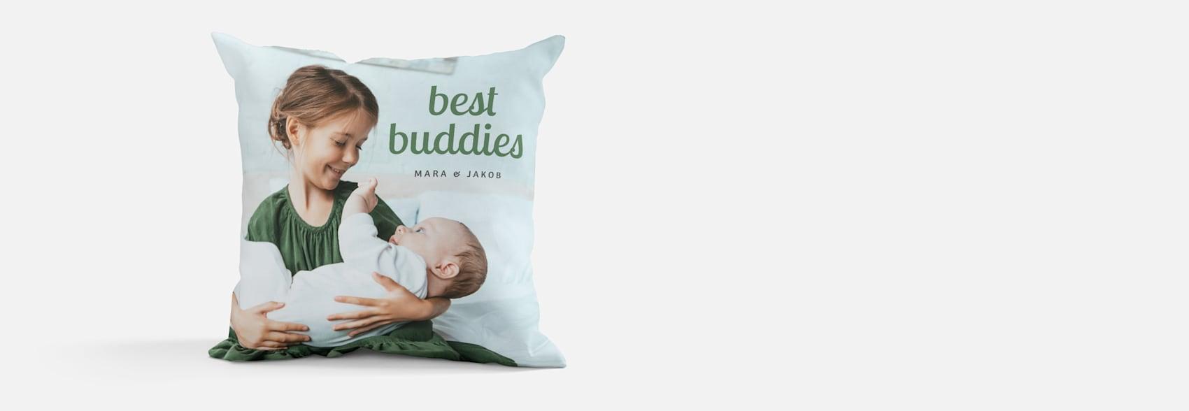 custom photo pillow with kids photo