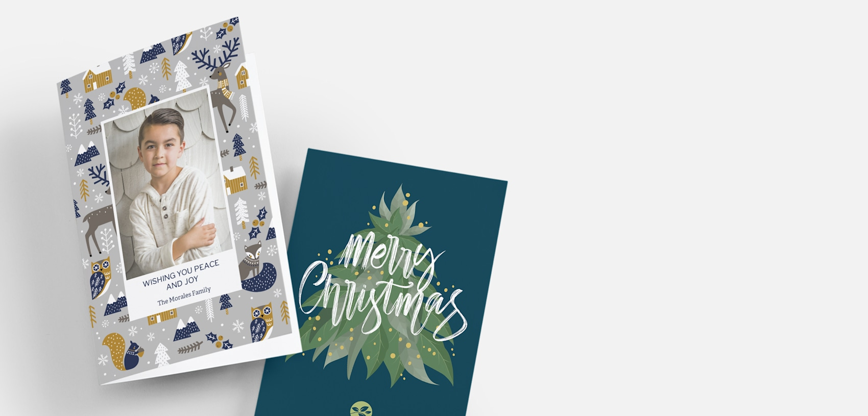 custom christmas cards with photos and illustrations