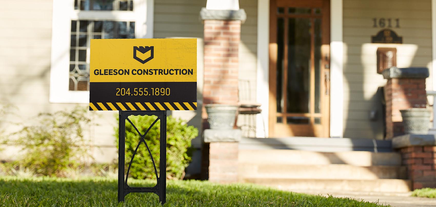 custom lawn signs