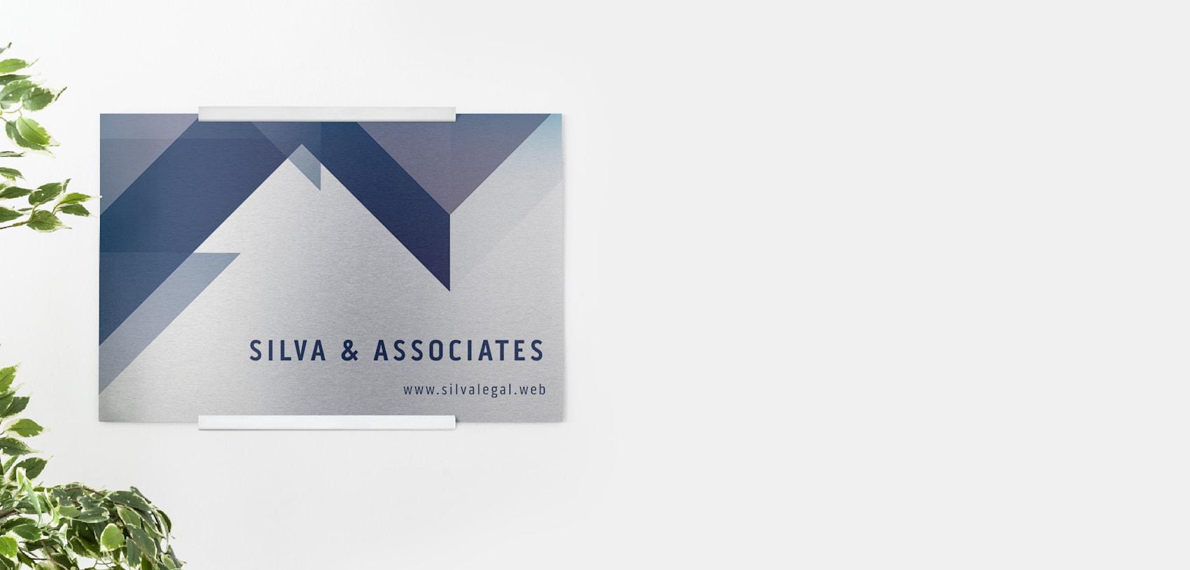 custom grey metal sign for printing