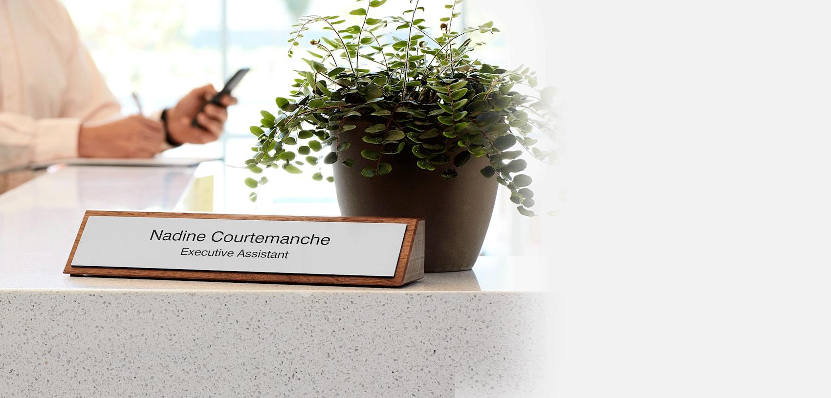 custom desk name plate for office Canada