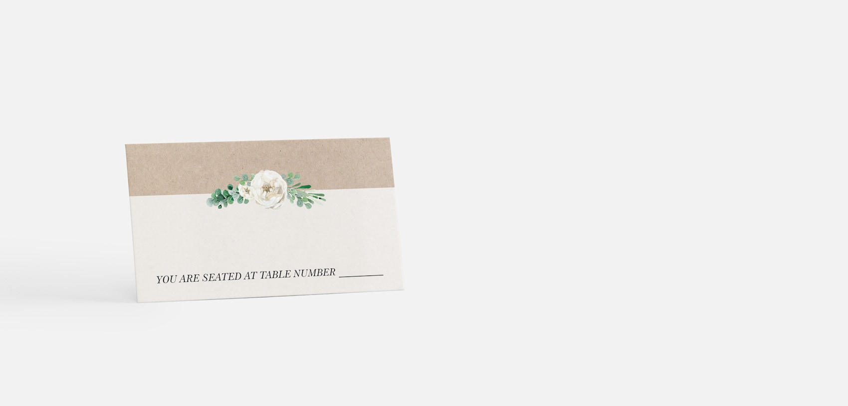 place cards with rustic design