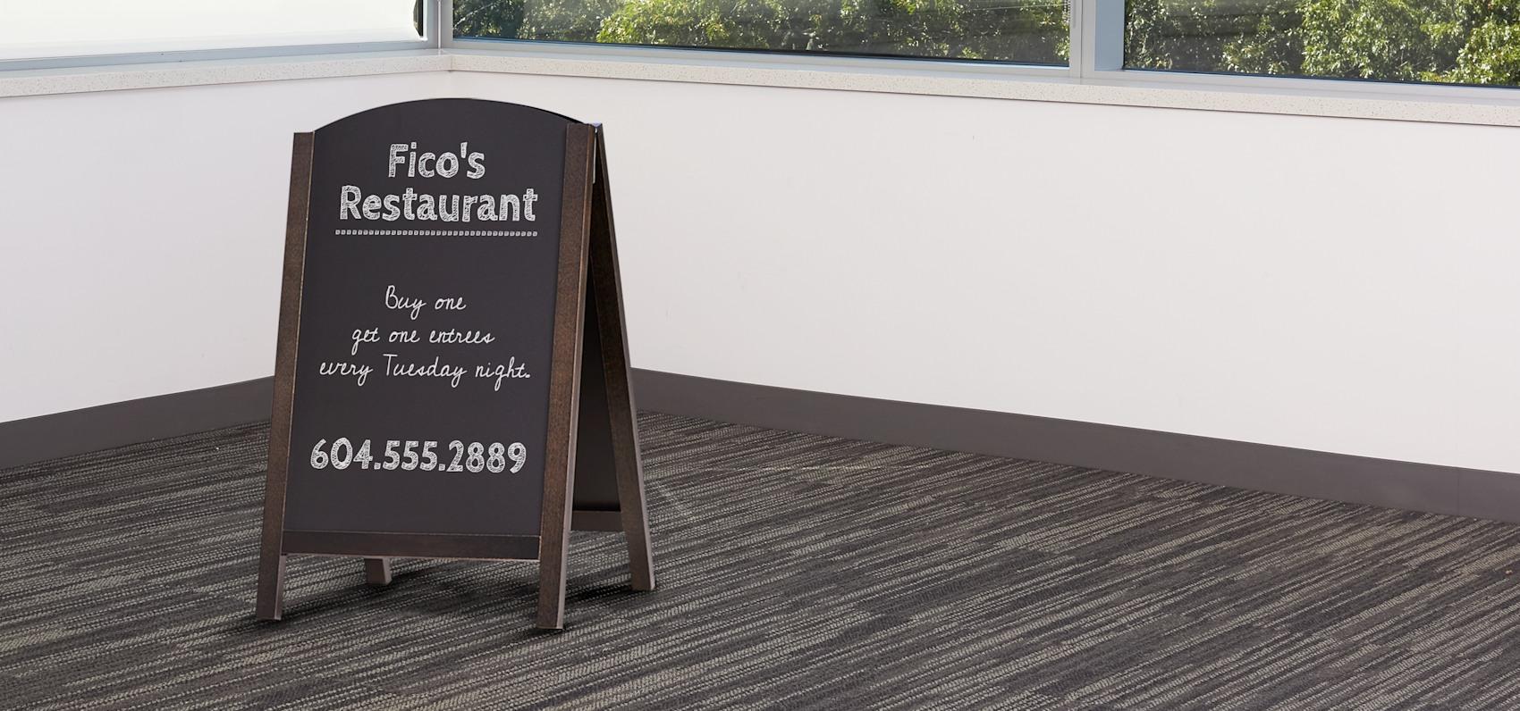 chalk menu board