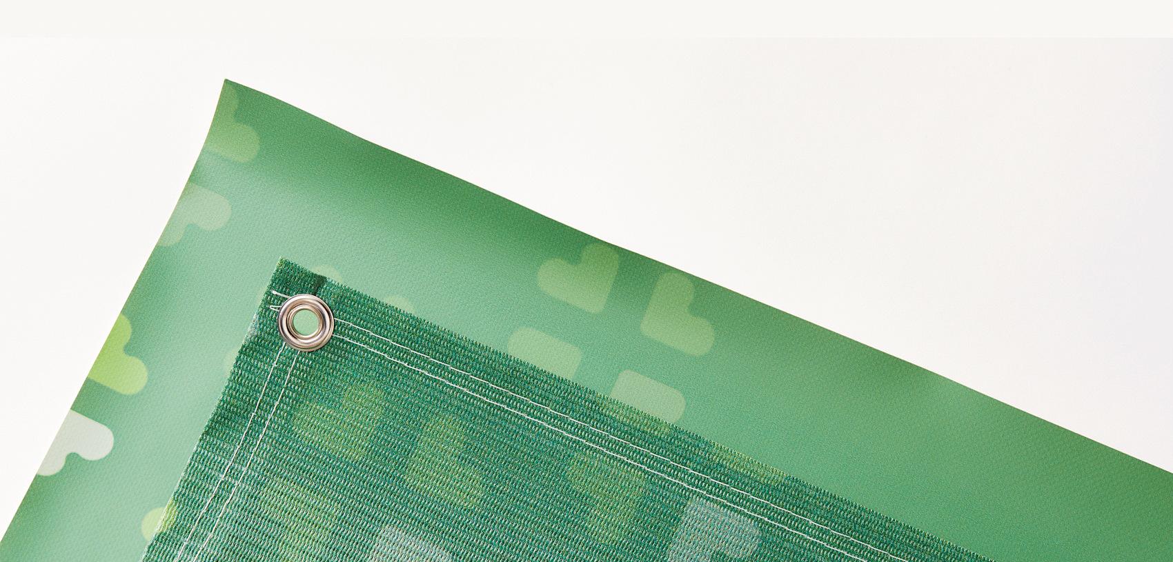 custom green fence banner