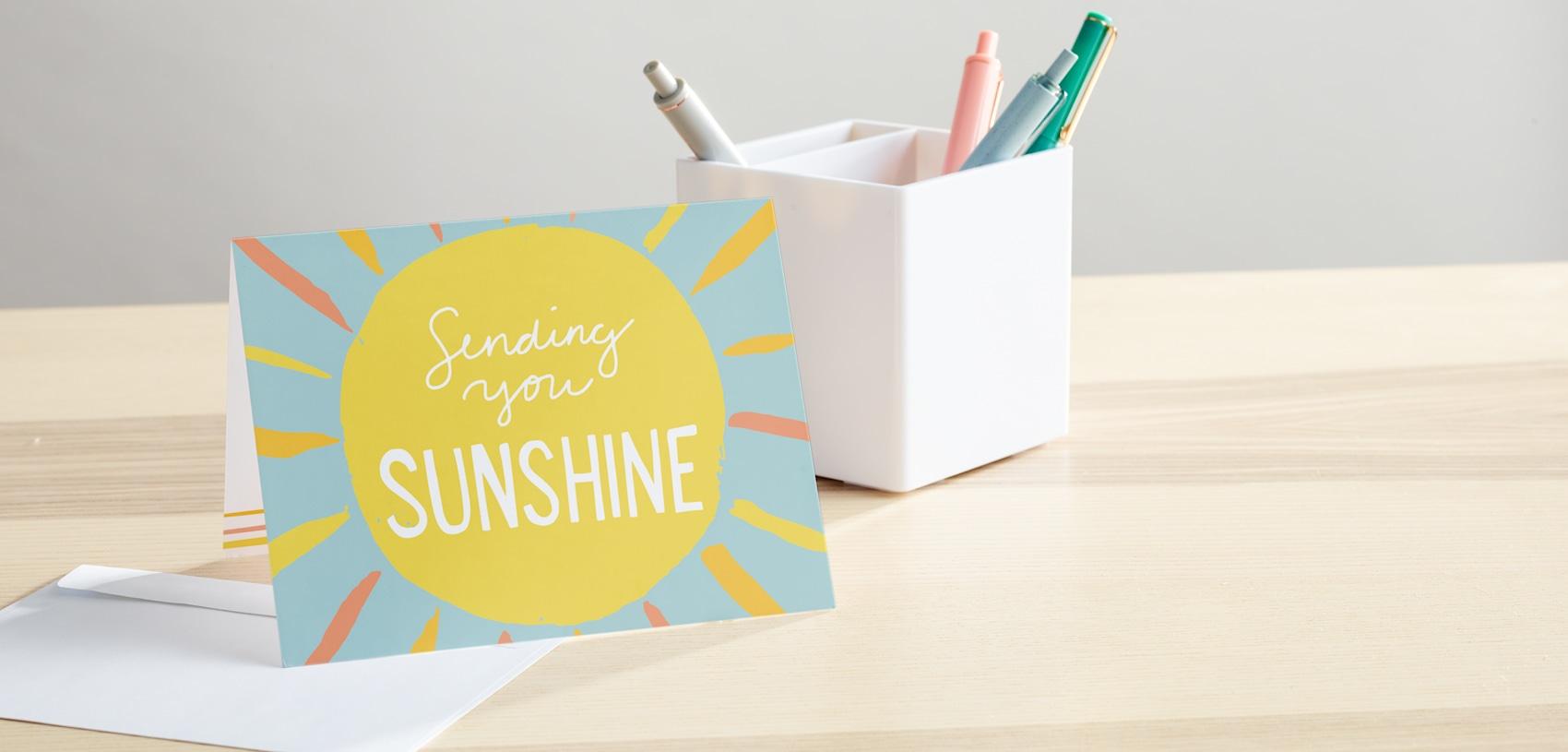 sending you sunshine note card
