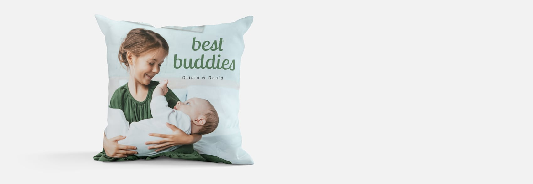 personalised photo cushion with kids photo and names