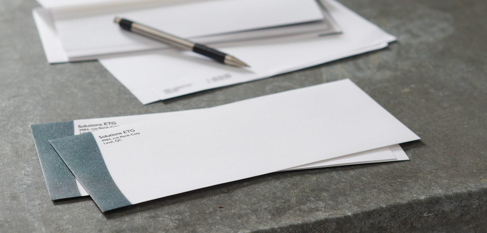 impression d'enveloppes pour entreprise