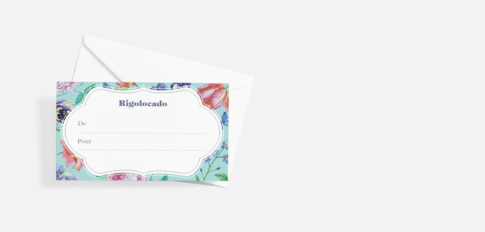 étiquette cadeau personnalisée avec enveloppe