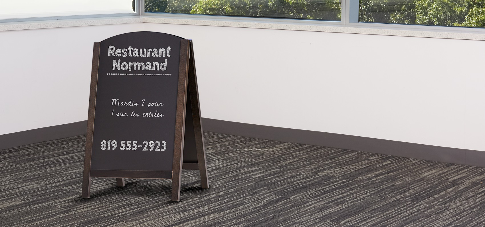 tableau ardoise de menu