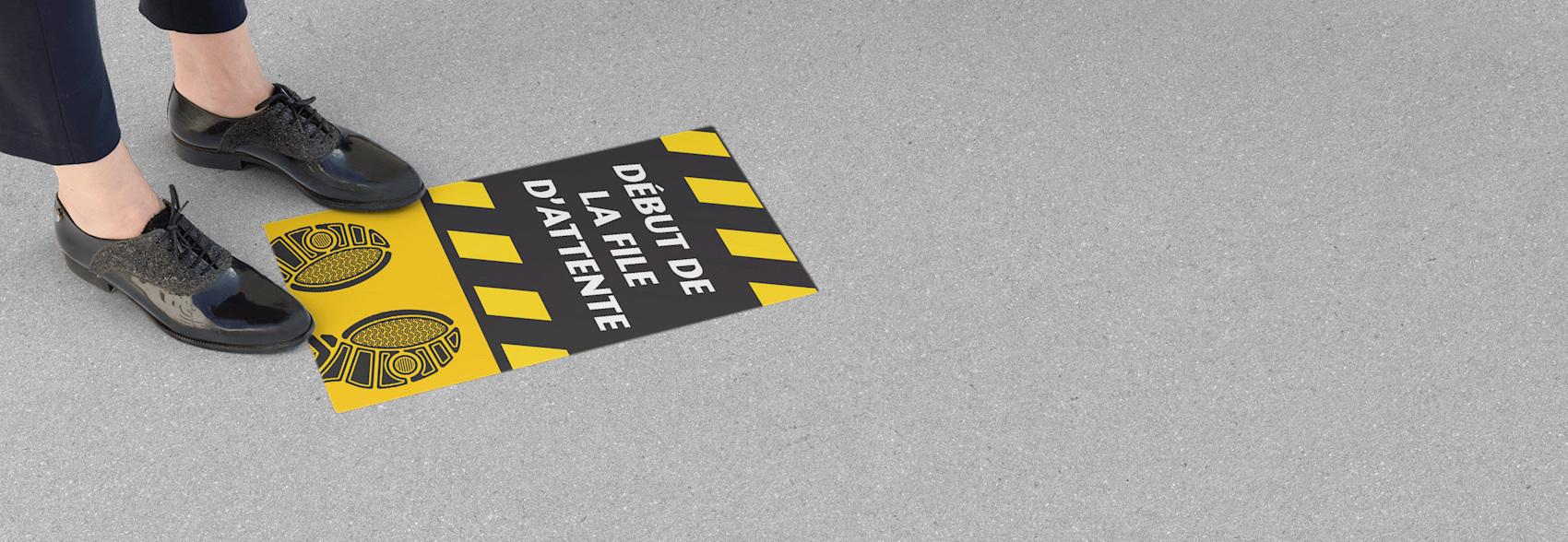 autocollants de plancher en vinyle pour entreprises
