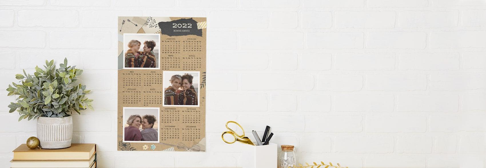 affiches calendriers personnalisées