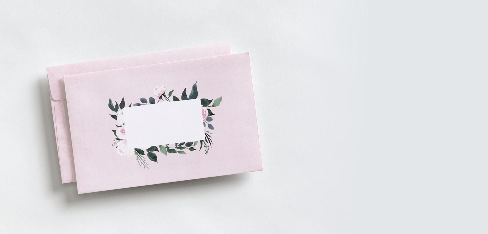 enveloppes personnalisées avec motif de fleurs