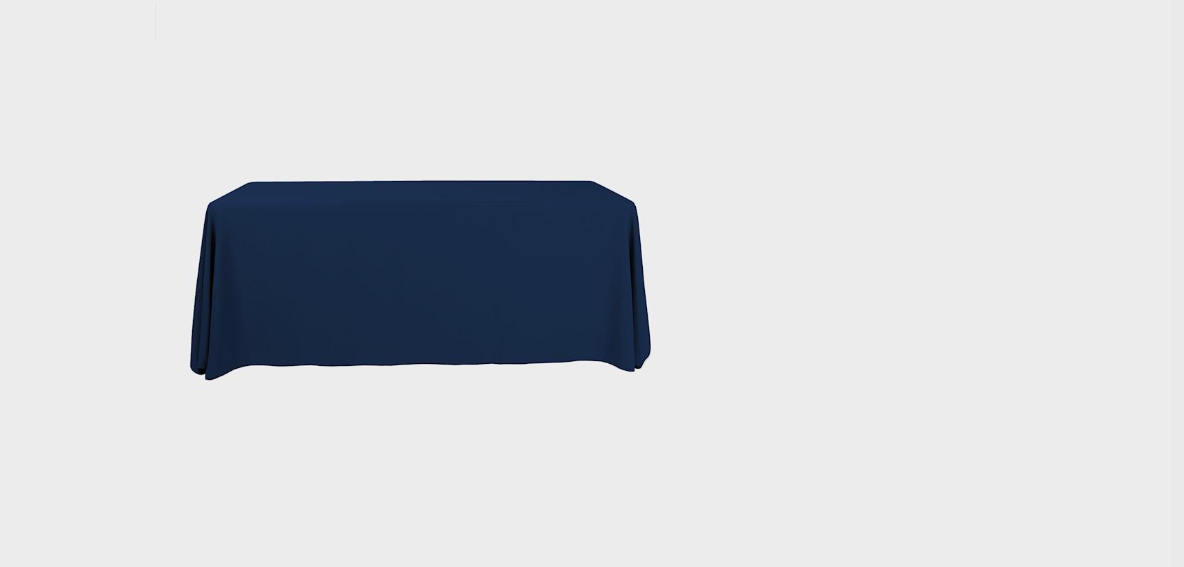 couvertures de table vierges pour salons professionnels