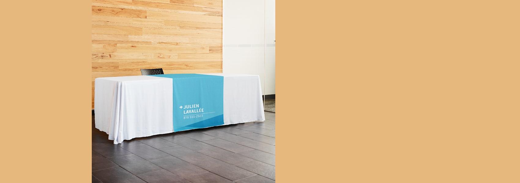 chemins de table pour les salons professionnels