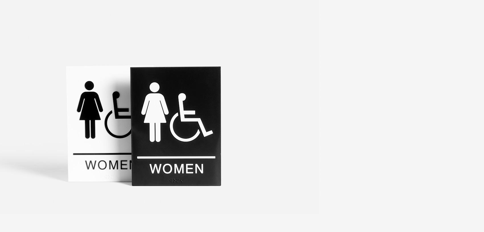 pancartes toilettes