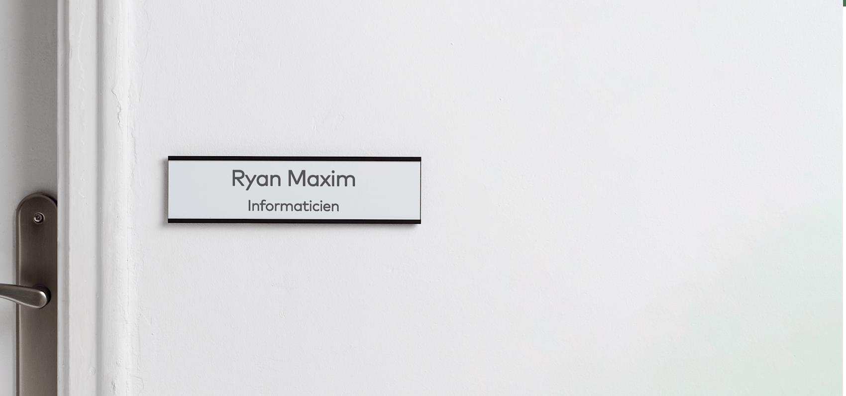 plaques de porte pour bureau