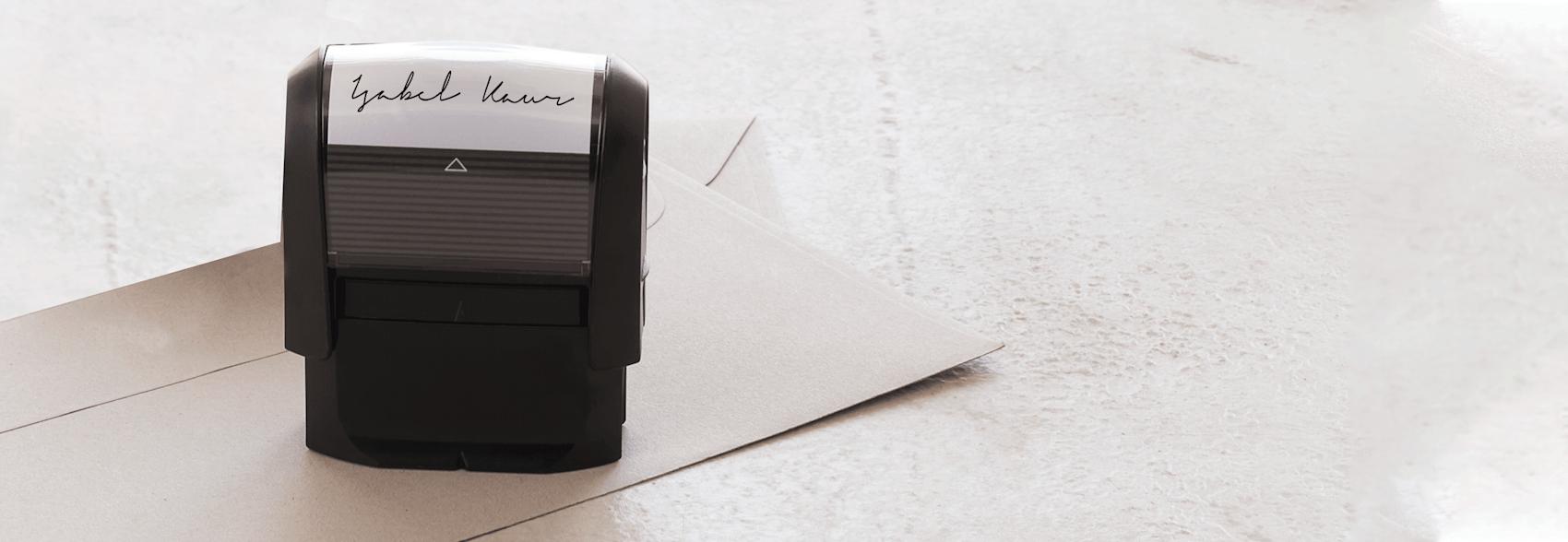 personalised self-inking stamp