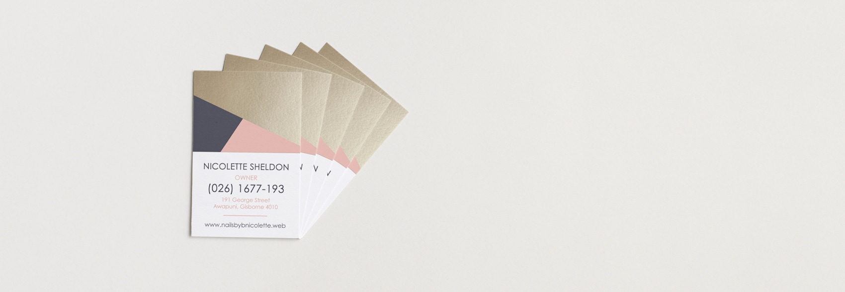 Custom soft touch business cards