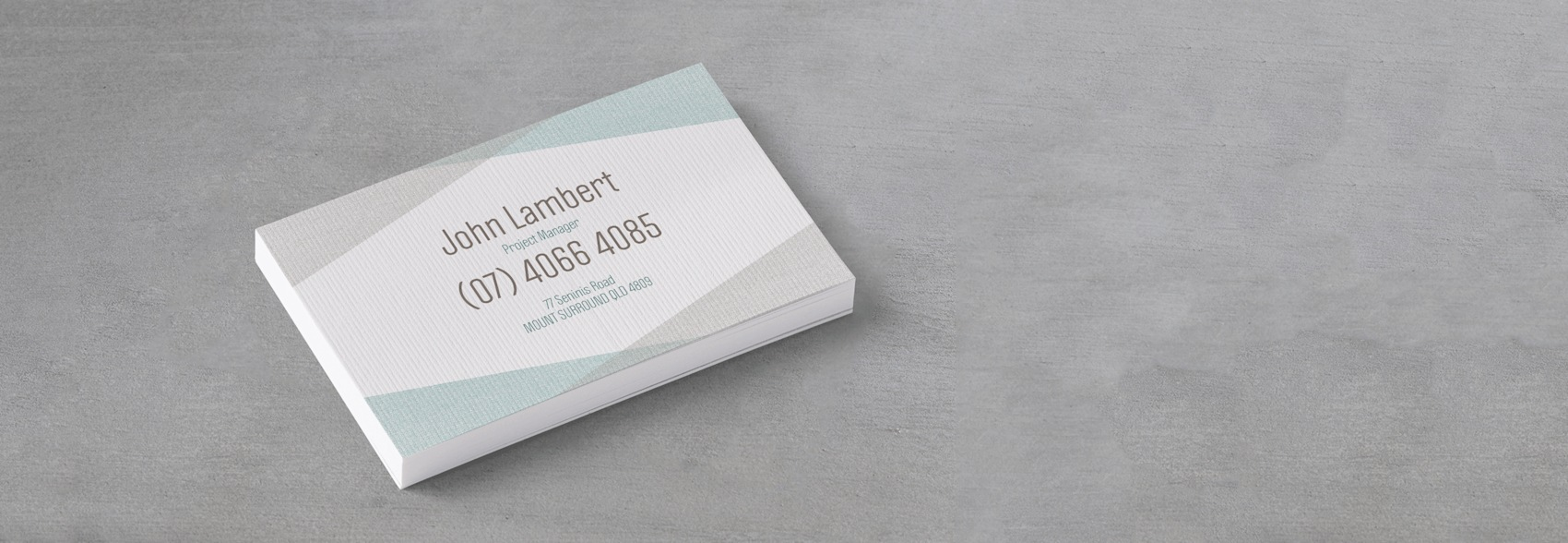 Ridged business cards