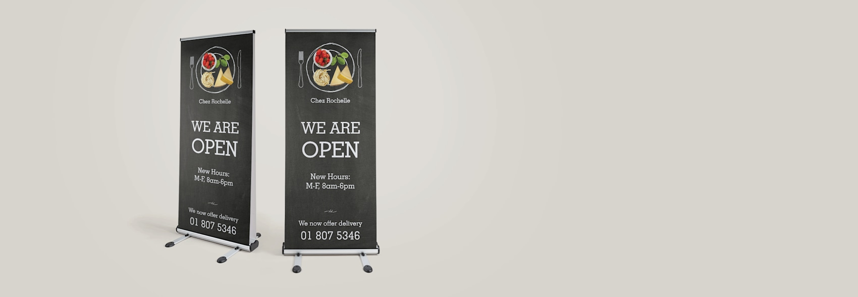 Outdoor Retractable Banner
