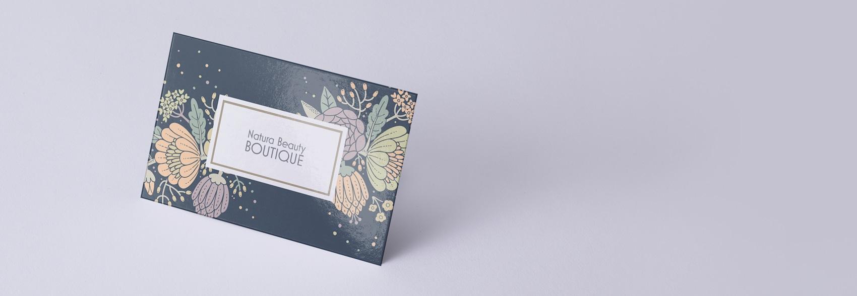Custom glossy business cards