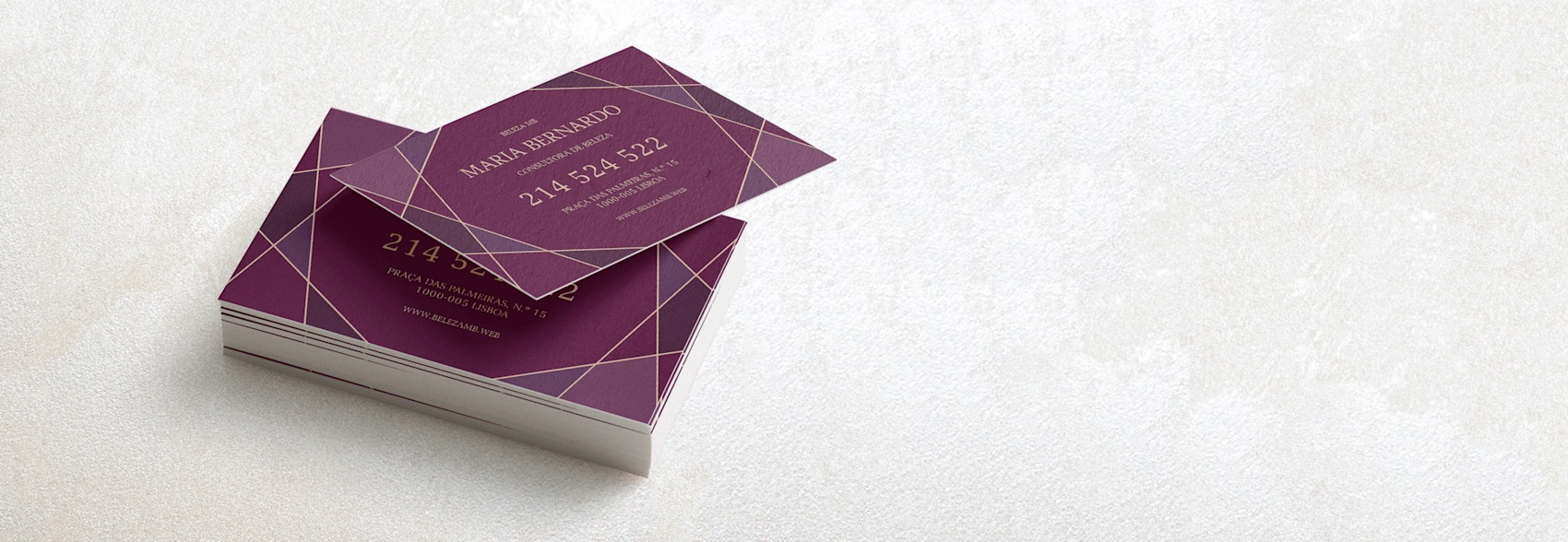 Cartões de visita aveludados