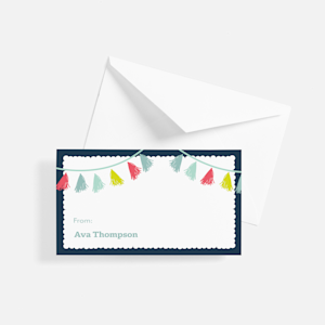 custom gift tag with party design