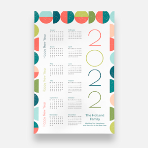 2021 personalized poster calendar