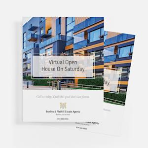 open house custom flyers