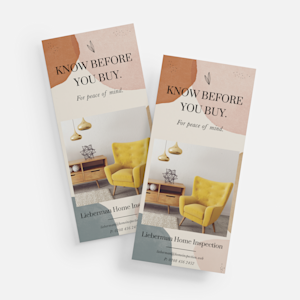 rack card design example for furniture