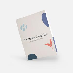 custom white presentation folder
