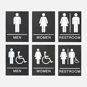 bathroom signs ADA compliant
