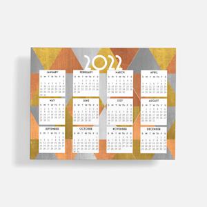 orange fridge calendar