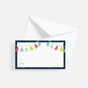 étiquette cadeau personnalisée avec graphisme de fête