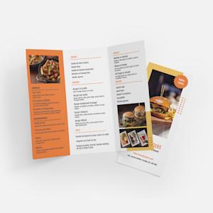 menu de livraison rectangulaire
