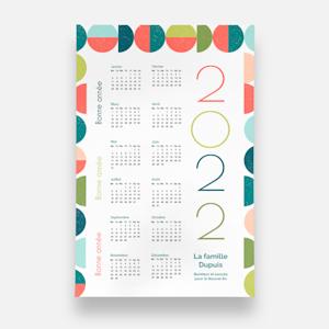 Affiche calendrier personnalisée 2021