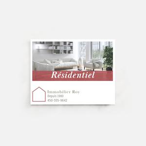 carte postale aimantée pour immobilier