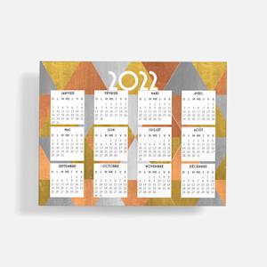 calendrier orange pour réfrigérateur