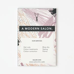 Silicone edge graphic business sign for salon