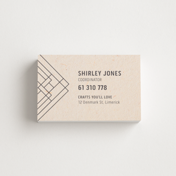 Natural Fibre Business Cards