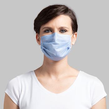 Máscaras em tecido descartáveis - etiqueta personalizável